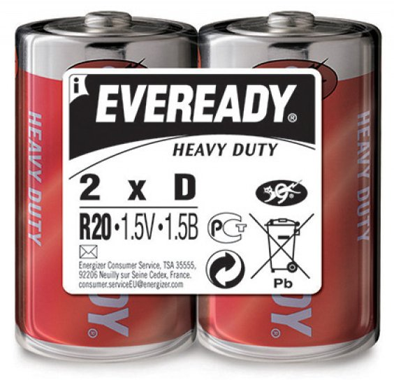 Батарейки Eveready Heavy Duty R20 SW2 (2 шт)