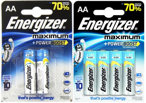 Батарейки Energizer Maximum LR6 (AA)