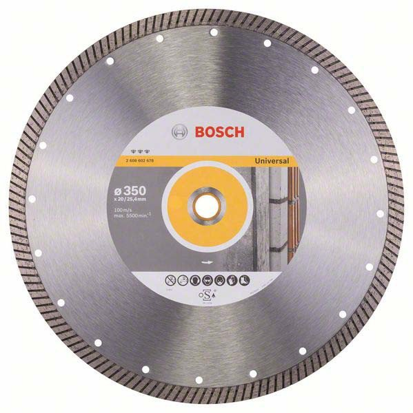 Круг отрезной Bosch Expert for Universal Turbo 350-20/25,4 мм