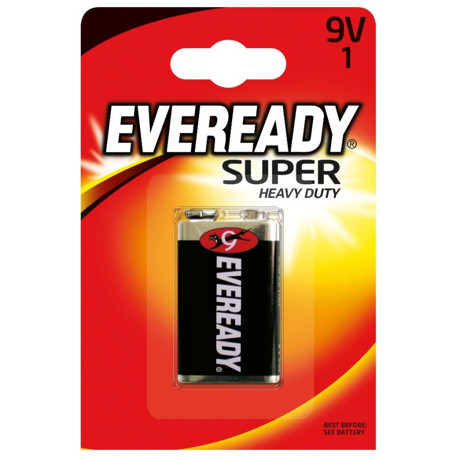 Батарейка Крона Eveready Super Heavy Duty 6F22 BP1