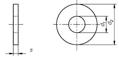 Шайба кузовная латунная DIN 9021 схема
