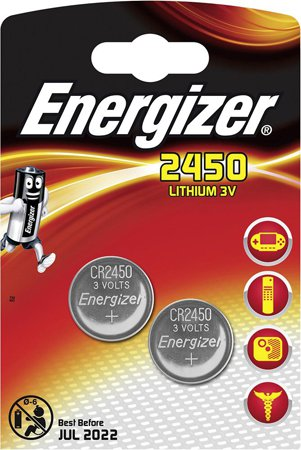 Батарейки Energizer CR2450 BP2 (2 шт)