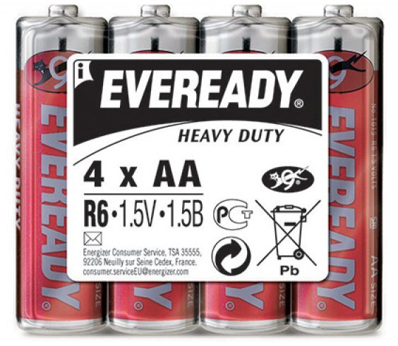 Батарейки Eveready Heavy Duty R6 SW4 (4 шт)