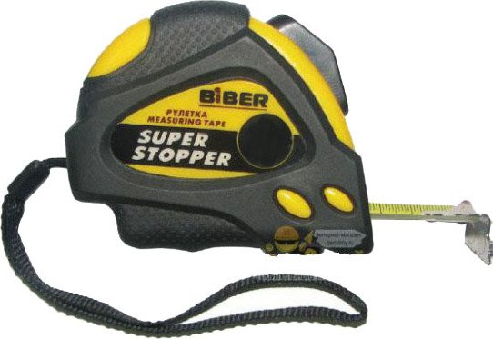 Рулетка BIBER Super Stopper 3 м х 19 мм 40122