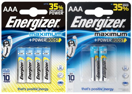 Батарейки Energizer Maximum LR03 (AAA)
