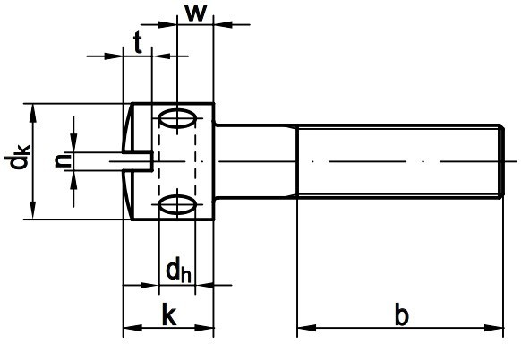 Винт пломбировочный DIN 404 - чертеж