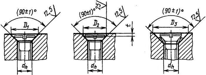Размеры опорных поверхностей, допуски