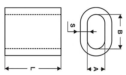 Зажим DIN 3093 - схема, чертеж
