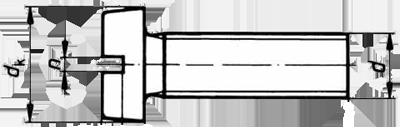 Винты с низкой цилиндрической головкой и прямым шлицем DIN 84, ГОСТ 1491-80, EN ISO 1207