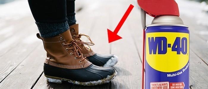 Защита одежды, обуви от влаги с помощью WD-40