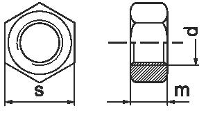 Латунная шестигранная гайка DIN 934