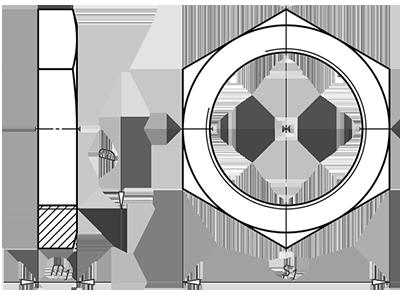 Трубная гайка DIN431 из стали 14Н