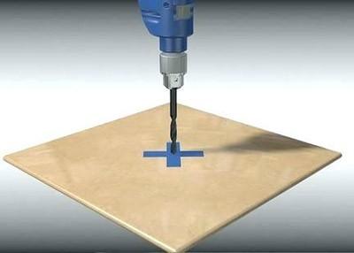 Подготовка поверхности к сверлению