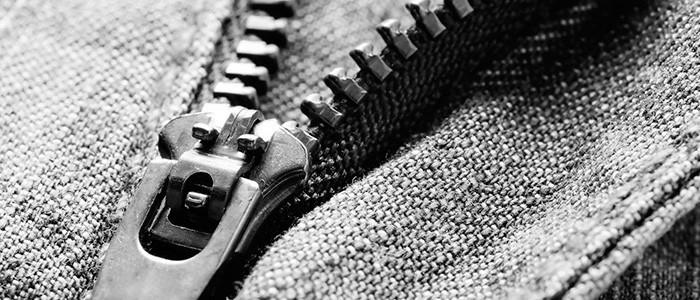 Заедающие молнии на одежде, обуви и сумках